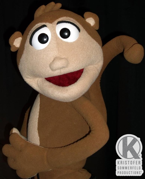 Custom Monkey Puppet by Kristofer Sommerfeld