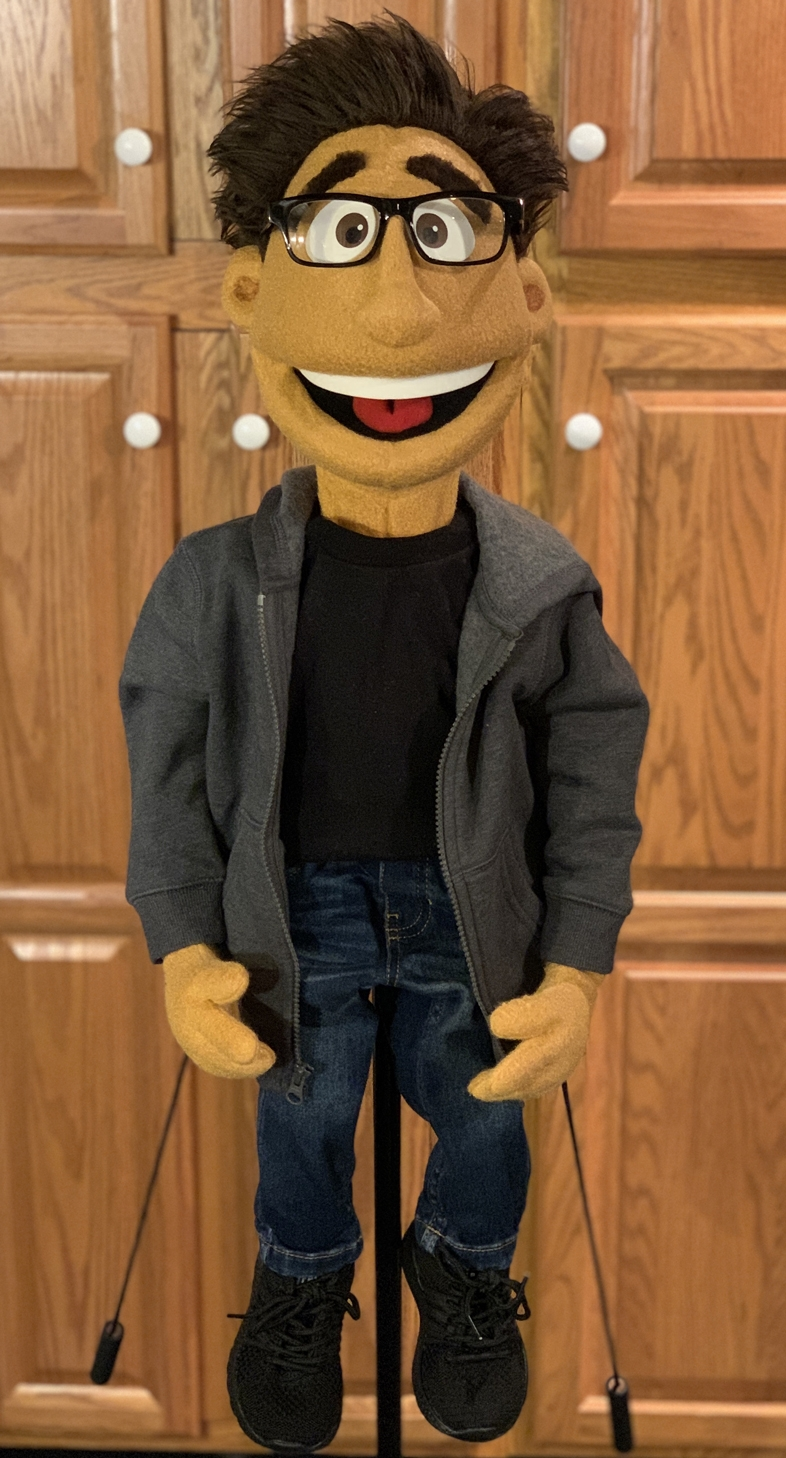 Custom Boy Puppet by Kristofer Sommerfeld
