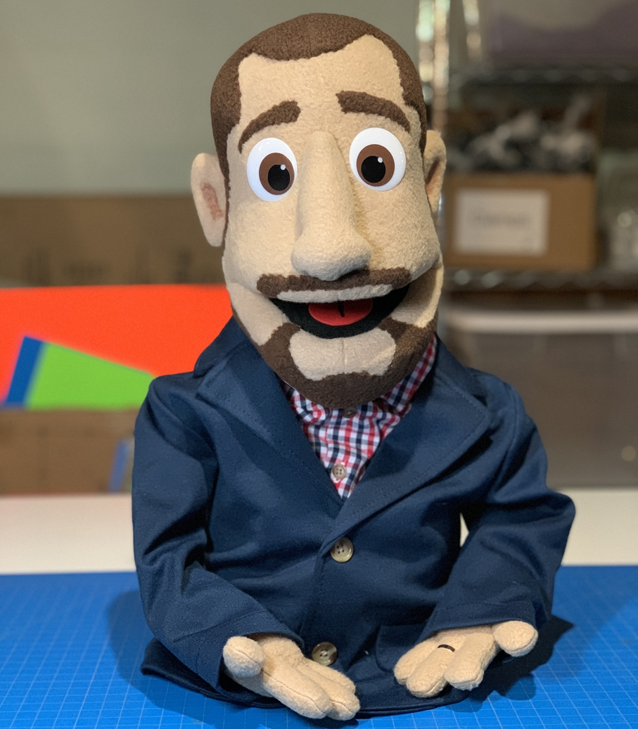 Custom Man Puppet by Kristofer Sommerfeld